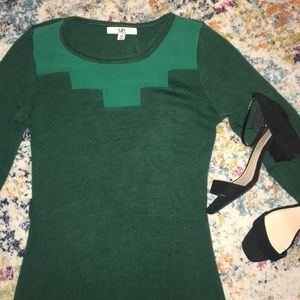Ya green sweater dress